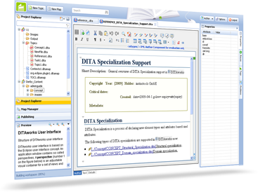 DITA CMS, DITA Redaktionssystem