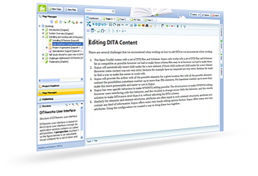 DITA Content Management with convenient authoring functions